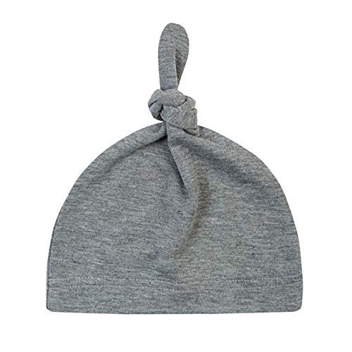 Sombrero de algodón con Nudo de bebé de 16 Colores, Gorros de Primavera otoño para niños pequeños, Gorro de Invierno para niñas, Gorro de Invierno cálido de Color sólido-a11-One Size