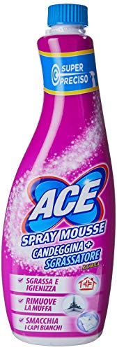 Ace Spray Mousse Candeggina con Sgrassatore Ricarica,10 x 650 ml