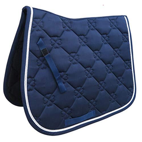 Sonline Sottosella per Cavallo Cuscino per Sella da Equitazione Accessorio per Cavallo Attrezzatura per Prestazioni Traspirante Coprisella Blu
