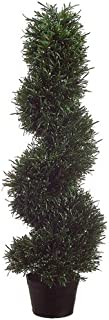 One 3 Foot Artificial Rosemary Spiral Slim Topiary Tree