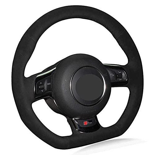 SAXTZDS Accesorios de Coche Cubierta de Volante DIY, Apto para Audi TT...