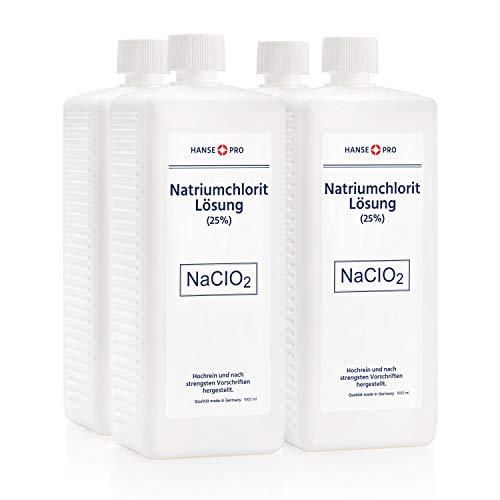 HANSE PRO Natriumchlorit Lösung (25%), 4 x 1000 ml, nach Original-Rezeptur, deutsches Qualitätsprodukt