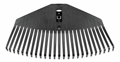 Fiskars Laubbesen-Kopf, 25 Zinken, Verbindbar mit Fiskars Solid Stiel, Breite: 41,5 cm, Kunststoff-Zinken, Schwarz, M, Solid, 1014914