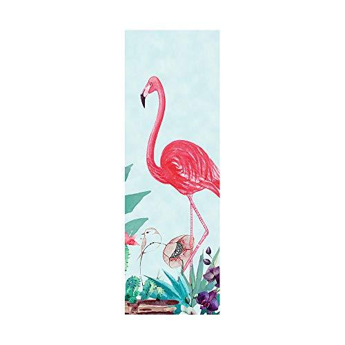 Pegatinas de nevera para cubrir puertas completas 3D Flamingo autoadhesivo adhesivo para puerta de refrigerador, papel pintado de vinilo profesional, 50 x 180 cm (2 unidades)
