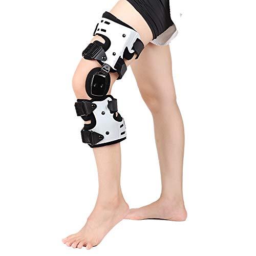 Breezeu OA Rodillera para Artritis Ligamento Medial con Bisagras Soporte de Rodilla Osteoartritis ArticulacióN de Rodilla Dolor Descarga Deportiva-Derecha