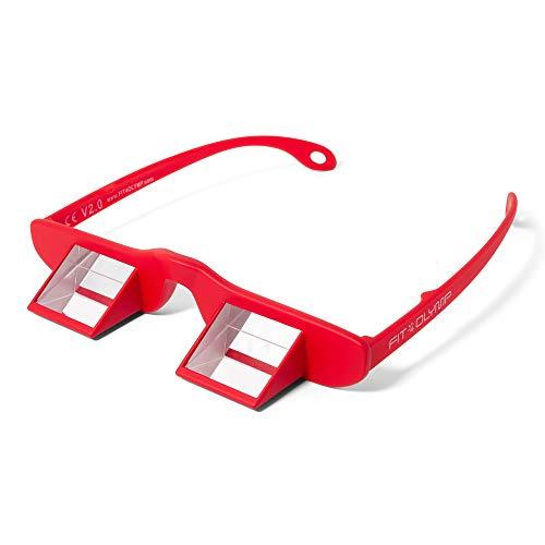 FIT4OLYMP Gafas de aseguramiento: Adecuado para Portador de Gafas I Gafas asegurar Escalada Gafas prismáticas Ligeras para Practicar escalamiento, alivian la tensión en el Cuello (Rojo)
