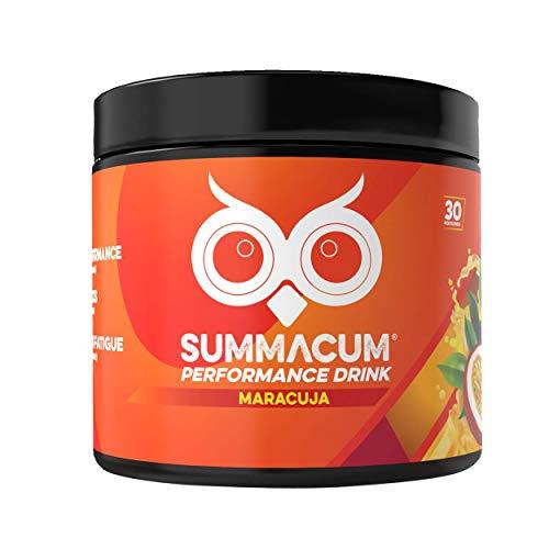 SUMMACUM Konzentrationsbooster mit 200mg Koffein. 30 Portionen Maracuja. Mit Acetyl-L-Carnitin, CDP-Cholin-Cognizin und grünem Tee