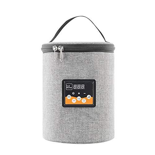 Bolsa de calefacción de alimentos, calentador de botellas de leche de coche, multifuncional de calentamiento rápido portátil bolsa de almacenamiento de botellas para varios modelos de vehículos