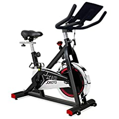 ✅ Belt Drive - Compared with the original version, this indoor cycling bike is updated with belt drive, wider seat, water bottler holder and 18 degree upward handlebar. Super quiet, it will be a great choice of home gym exercise bikes for seniors, be...