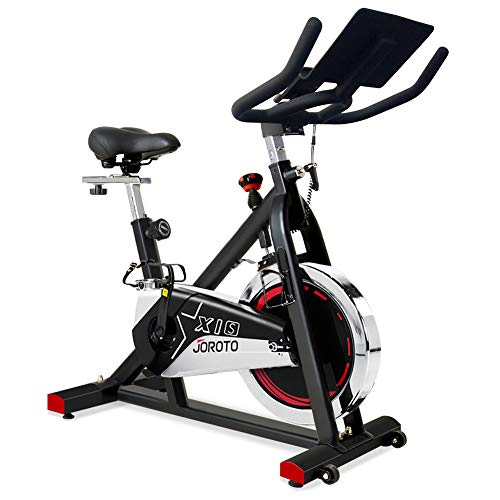 JOROTO Belt Drive Exercise Bike - Indoor Cycling Bike Stationary Cycle for Home Gym Workout
