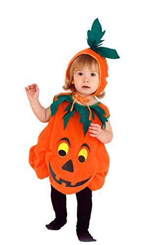 GIFT TOWER Kürbis Kostüm Kinder Mädchen Halloween Baby Faschingskostüme Jungen für Halloween Karneval Fasching Cosplay Orange S/2,5-3,5Jahre