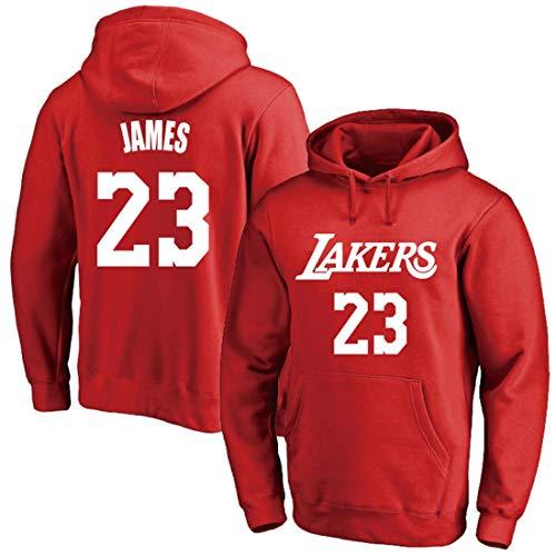YUUY Baloncesto Sudadera Lebron James # 23 Los Angeles Lakers Deportes Bolsillo Grande con Capucha Multicolor Opcional S-3XL (Color : B5, Size : X-Large)