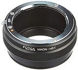 Fotga FTAB057 - Adaptador de Objetivo para Objetivo Nikon F a Sony E Mount cámara sin Espejo NEX7 NEX-F3 A6000 A6100 A6500 A6600 A5000 A3500 A3000 Alpha A7 A7R A7S II IV A9