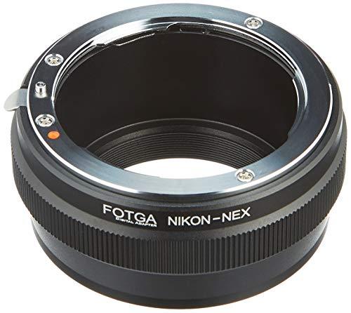 Fotga Objektivadapter für Nikon F Objektiv auf Sony E Mount spiegellose Kamera NEX7 NEX-F3 A6000 A6100 A6500 A6600 A5000 A3500 A3000 Alpha A7 A7R A7S II III IV A9