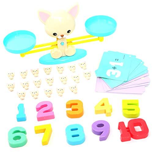 TOYANDONA Weegschaal Montessori Tellen Speelgoed Stam Wiskunde Tellen Spelletjes Speelgoed Balans Educatief Speelgoed Voor Kinderen