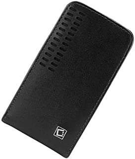 Blackberry Z30 Vertical Style Slide In Case Made In Genuine Leather With Removable Swivel Clip And Spring Clip Black