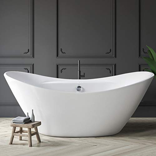 FerdY Boracay 67' Acrylic Freestanding Bathtub, Gracefully Shaped...