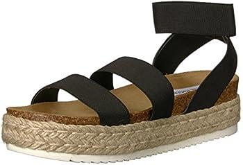 Steve Madden Women s Kimmie Wedge Sandal Black 9 M US