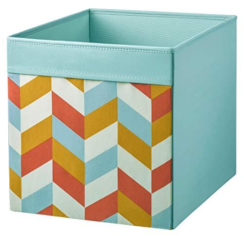 DRÖNA IKEA türkis-bunt Fach Box Expedit Kallax Regal Aufbewahrungsbox