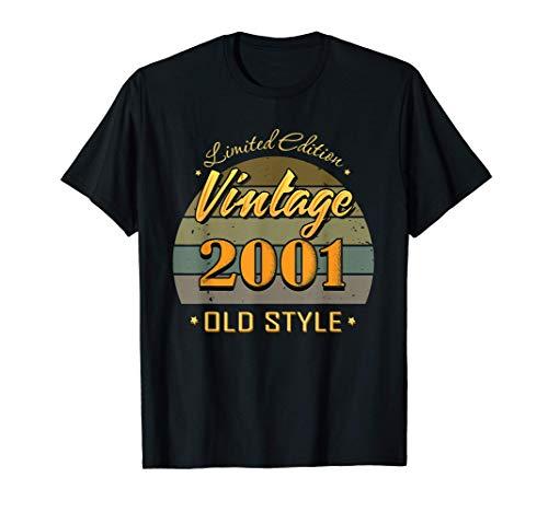 20 ans décorations 20e anniversaire millésime 2001 T-Shirt