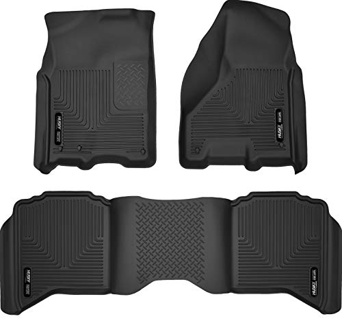 Husky Liners 99001 Black Weatherbeater Front & 2nd Seat Floor Liners Fits 2009-2018 Dodge Ram 1500...