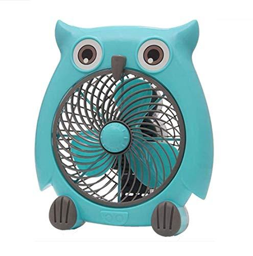 NGXIWW Mini-desktopventilator, 10 inch, 20 W, 2 snelheden, ventilator voor familie, slaapkamer, kantoor, slaap, donkergroen