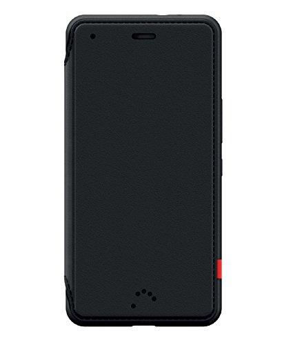 BQ Aquaris X5 Duo - Funda (Material termoplástico Exterior Flexible, Microfibra Interior, función de activación de Pantalla), Color Negro