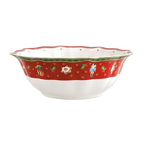 Villeroy & Boch Toy's Delight Plat creux, Porcelaine Premium, Blanc/Rouge