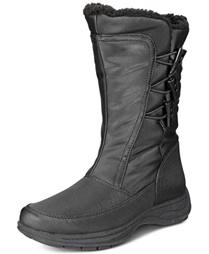 sporto Womens Dana Closed Toe Mid-Calf Cold Weather Boots Dark Pewter
