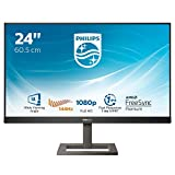 Philips 242E1GAEZ Monitor Gaming 24', 144 hz, 1ms, AMD Freesync Premium, Regolabile, Full HD, HDMI, Display Port, Casse Audio Integrate, Protezione Occhi, 350cd/m2, Mega Infinity Contrast, Vesa