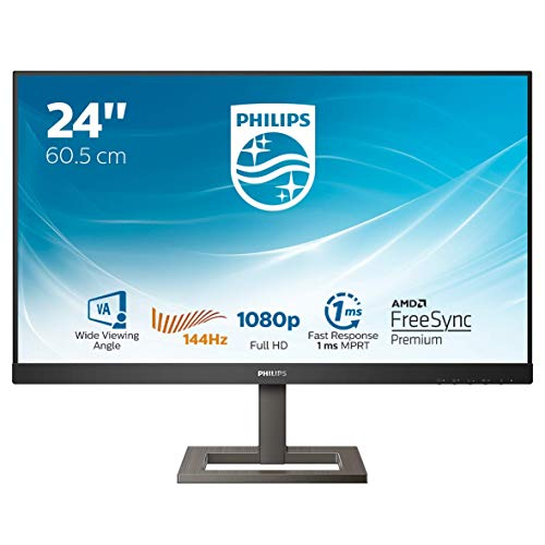 Philips 242E1GAEZ - 24 Zoll FHD Gaming Monitor, 144 Hz, 1ms, FreeSync Premium (1920x1080, HDMI, DisplayPort) schwarz