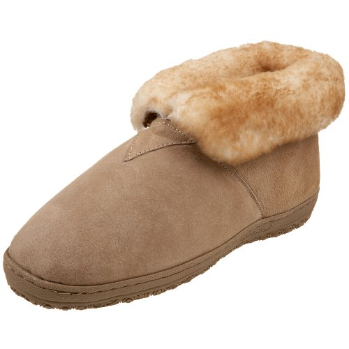 Old Friend Men's Bootee Slipper, Chestnut, 10 D - Medium