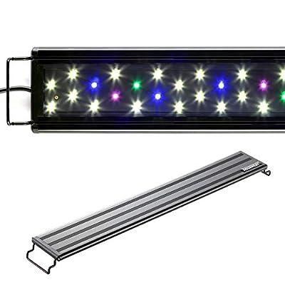 AQUANEAT LED Aquarium Light Full Spectrum for 24 to 30 Inch Fish Tank Fresh Water Light Multi-Color