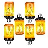 YQGOO Bombillas LED con Efecto de Llama de Fuego, 5w 1400k E27 Llamas simuladas, 4 Modos con Efecto al revés Luces Decorativas de Llama simulada, para Halloween/Navidad, etc.