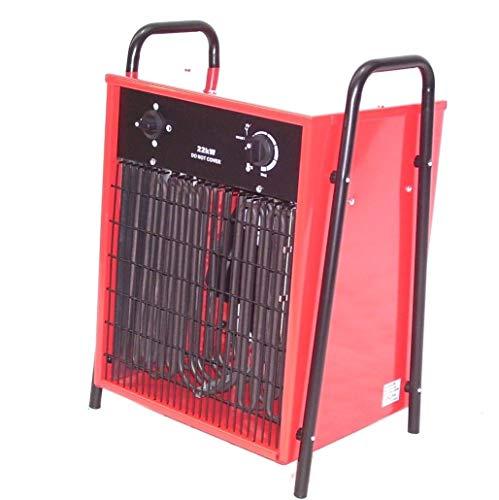55199 Heizlüfter 22kW Heizgerät Bauheizer Heizgebläse Bautrockner Gebäudeheizung Elektroheizer 22000W Heizer mit Thermostat, Überhitzungsschutz sowie Temperaturregelung und Ventilator Funktion AWZ