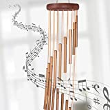 """Orgrimmar 36"""" Long Sympathy Wind Chimes with 18 Aluminum Alloy Tubes Deep Tone Grace Elegant Wind Chime Quality Gift Decor for Patio, Garden, Home, Balcony, Indoor and Outdoor"""