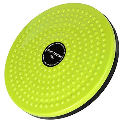 FyuFE Sport Taille Twist Disc, Aerobic Exerciser Drehplatte Mit Anti-Rutsch-Sicherheitsplattform Balance Board Wobble Fitnessgeräte Fit Waist Exercise Und Fußmassage,Grün