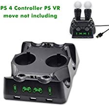 PS 4 / PS VR Docking Station, Dual Docking Station PlayStation 4 / PS 4 / PS VR Move Controller for Sony PlayStation4 / PS...