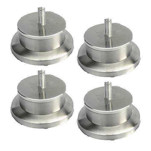 4 Gambe per Mobili Acciaio Inossidabile Piedini per Mobili Tondo Gambe per Divani in Metallo Piedini Sostitutive Letto Tavolo Piede Vite M8(3cm)