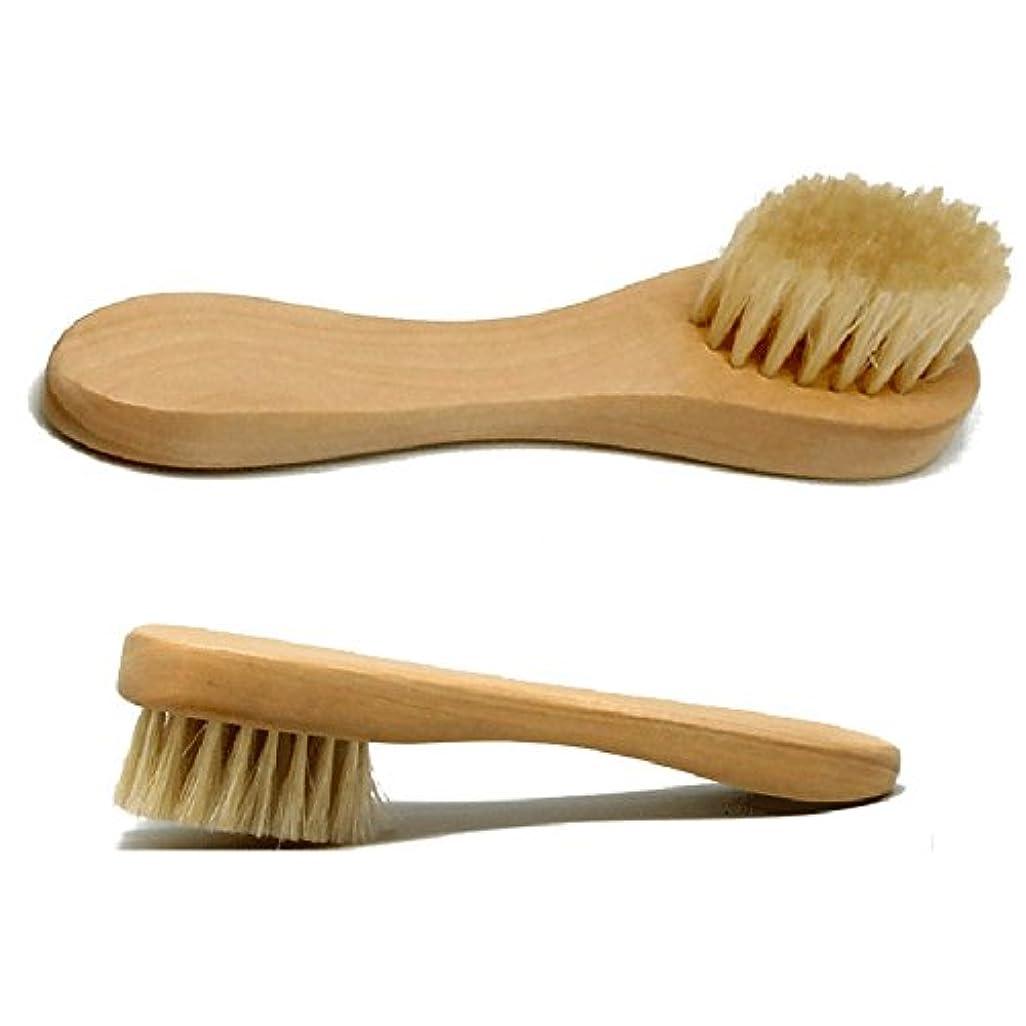 言い訳パターン増強するHrph 洗顔ブラシ フェイスブラシ 木柄 豚毛