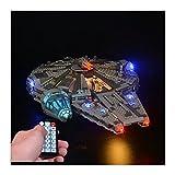 LAIQIAN Juego de iluminación LED para Modelo Lego Star Wars Millennium Falcon, Juego de Luces Compatible con Lego 75105 Modelo Force Awakens Millennium - sin Juego Lego