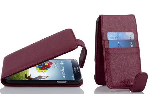 Cadorabo Funda para Samsung Galaxy S4 in Burdeos Violeta - Cubierta Proteccíon Estilo Flip con Tarjetero - Etui Case Cover Carcasa