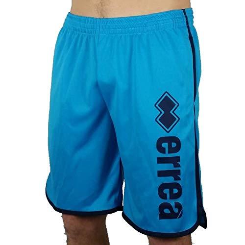 Errea Republic Pantaloncini Shorts Sport Uomo Ragazzo Essential SS20 Essential SS20 Logo Word Man Basket Bermuda Shorts Cyan (Medium)