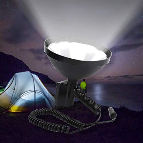 Luz de camping Lámpara de mano de la luz de la luz de la luz de la luz de la caza de 12V de 1000W Lámpara de mano de la luz de la caza de 9 pulgadas 245 mm Luces al aire libre para la iluminación de a