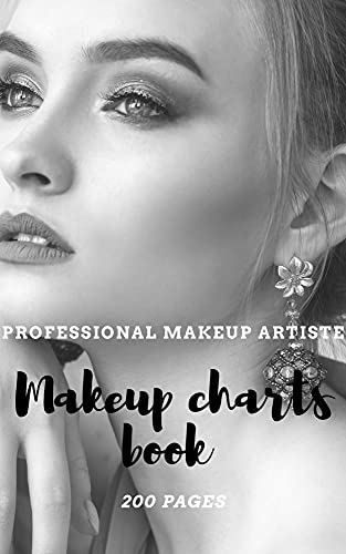 Makeup Artist Face Charts Book: Professional makeup learning balnk 200 pages: Perfect Gift for Cosmetic & Fashion Lovers - For ten girls / Template and ... Artist Manual 6