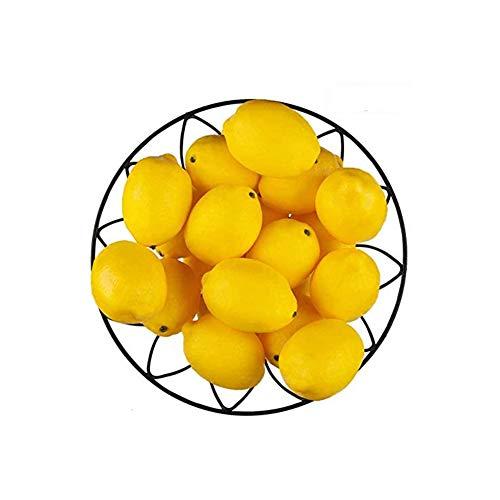 "Kyrieval 20 PCS Limones artificiales Limones falsos Limones falsos Fruta en amarillo 3 ""de largo x 2"" de ancho"
