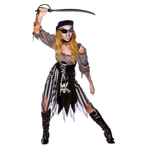 Zombie Cutthroat Pirate - Adult Costume Lady : X SMALL