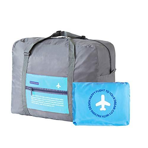 Beloved Borsa, borsone ripiegabile - bagaglio a mano - impermeabile - con tracolla - salvaspazio - sport e palestra (Azzurro)
