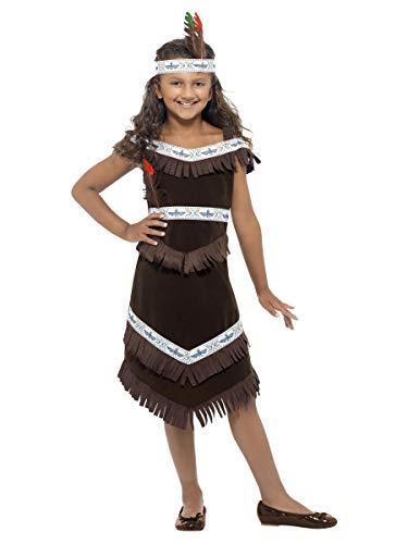 pour Enfants Filles ou Garçons Indien D'Amérique Cherokee Guerrier Chef Cow-Boy & Occidental Costume Déguisement 4-12 Ans - Filles, 10-12 Years