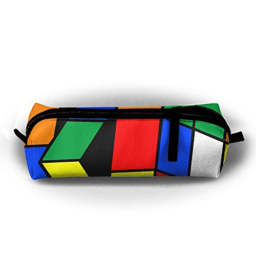 Rubik's Cube - Estuche para lápices de estudiantes, con cremallera, para cosméticos, maquillaje, monedero, para niños, adolescentes y otros suministros escolares